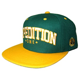 Expedition One Bender Snapback Cap - Forest/Gold