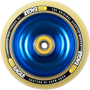 Eagle Blue Anodised Full Metal Core Yellow PU Wheel - 110mm