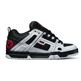 DVS Comanche Skate Shoes - Black/White/Red Leather