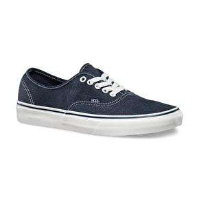 Vans Authentic Shoes - (Washed) Dark Blue