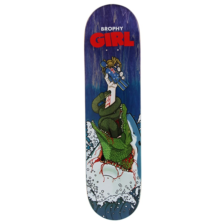 Girl Man-Eater Skateboard Deck - Brophy 8""