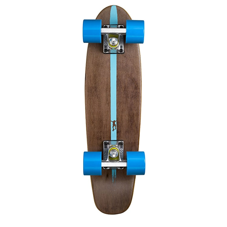 Ridge Mini Cruiser Skateboard - Number Two Dark Dye/Blue 22""