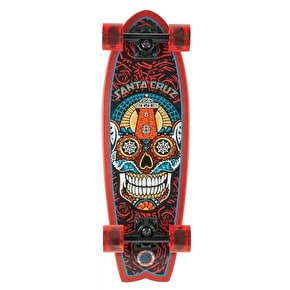 Santa Cruz Land Shark Sugar Skull Complete Cruiser Skateboard - 27.7