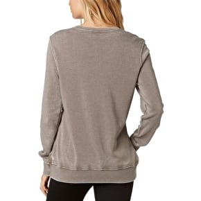 Fox Growled Womens Crewneck - Shadow