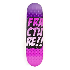 Fracture Skateboard Deck - Comic VT Purple 8