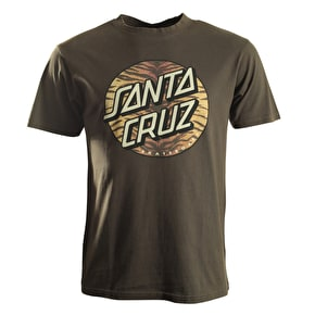 Santa Cruz T-Shirt - Tiger Dot Vintage Black