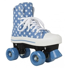 Rookie Quad Skates - Canvas High Stars Blue/White