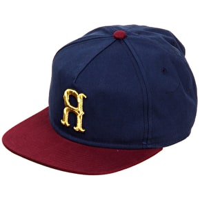 Rook Mile High Strapback Cap - Navy/Burgundy
