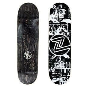 Z-Flex Flyer Skateboard Deck - Black/White 8.5