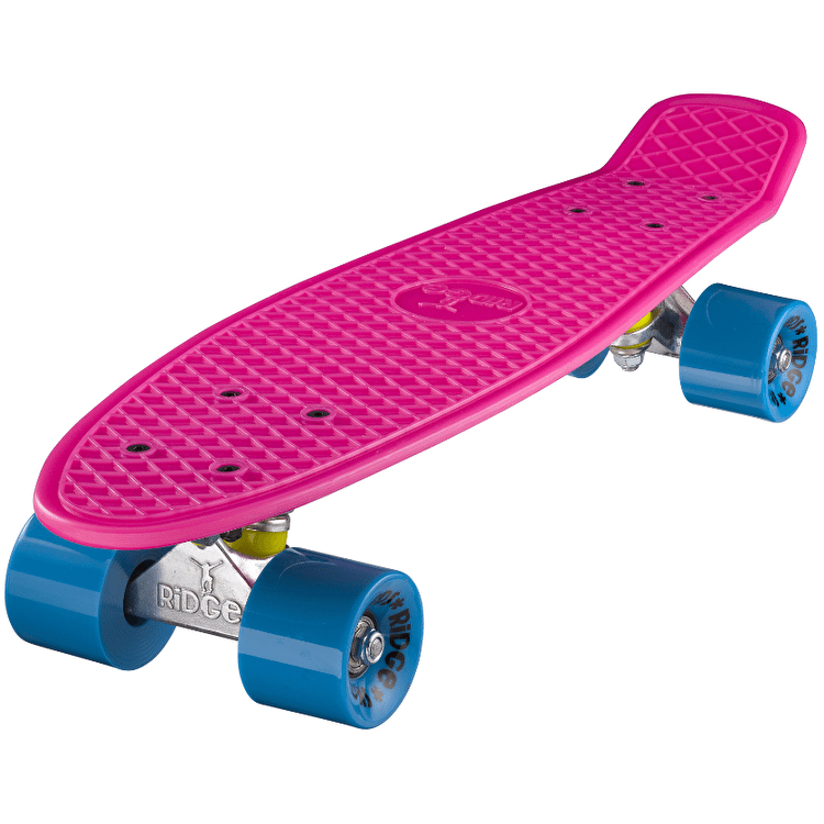 "Ridge 22"" Mini Retro Cruiser - Pink/Blue"