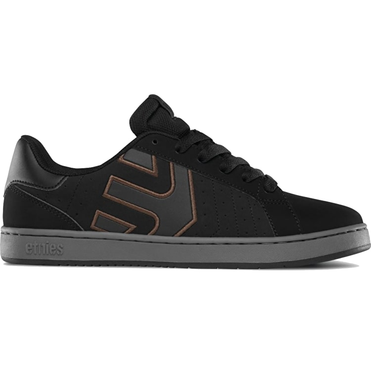 Etnies Fader LS Skate Shoes - Black/Charcoal/Gum