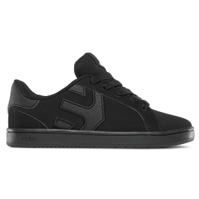Etnies Fader Kids Skate Shoes - Black Dirty Wash