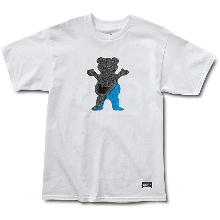 Grizzly Cut-Out Bear T-Shirt - White