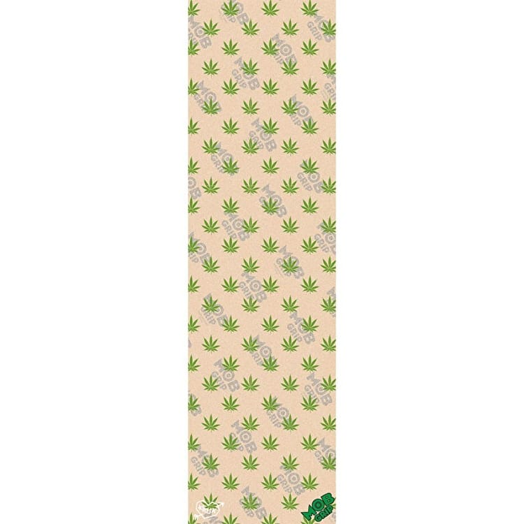 MOB Krux Leaf Pattern Skateboard Grip Tape - Clear/Green 9""
