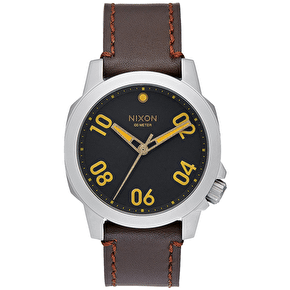 Nixon Ranger 40 Leather Watch - Black/Brown