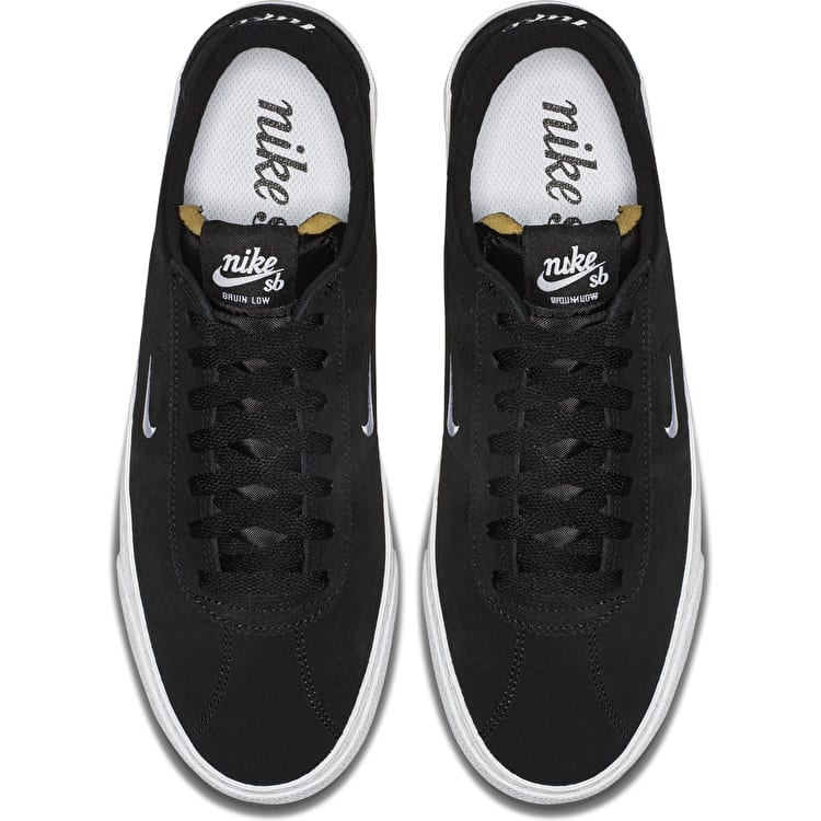 Nike SB Zoom Bruin Skate Shoes - Black/White/Gum/Light Brown