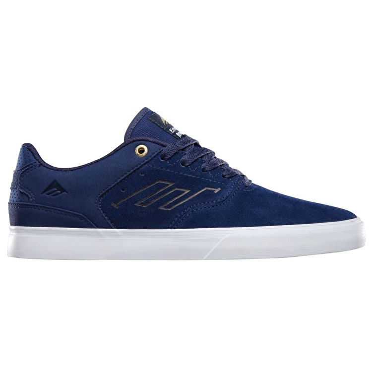Emerica The Reynolds Low Vulc Shoes - Navy/White/Gold