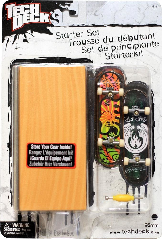 Tech Deck Skateboard Toy Starter Set  Black Label