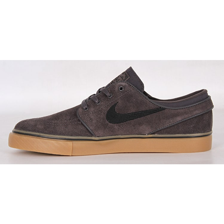 Nike Zoom Stefan Janoski Skate Shoes - Thunder Grey/Black Gum/Light Brown