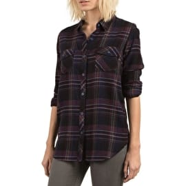 Volcom Desert Fly Long Sleeve Womens Shirt - Black