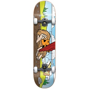 Almost Napping Caveman Youth Complete Skateboard - Brown 7.375