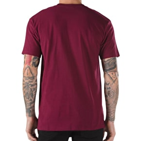 Vans Chima Pocket T-Shirt - Burgundy