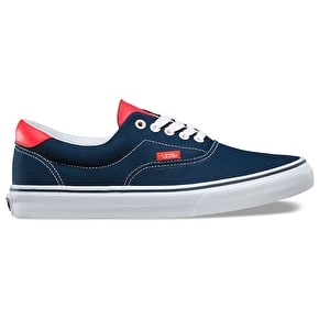 Vans Era 59 Shoes - (Neon Leather) Dress Blues/Neon Red