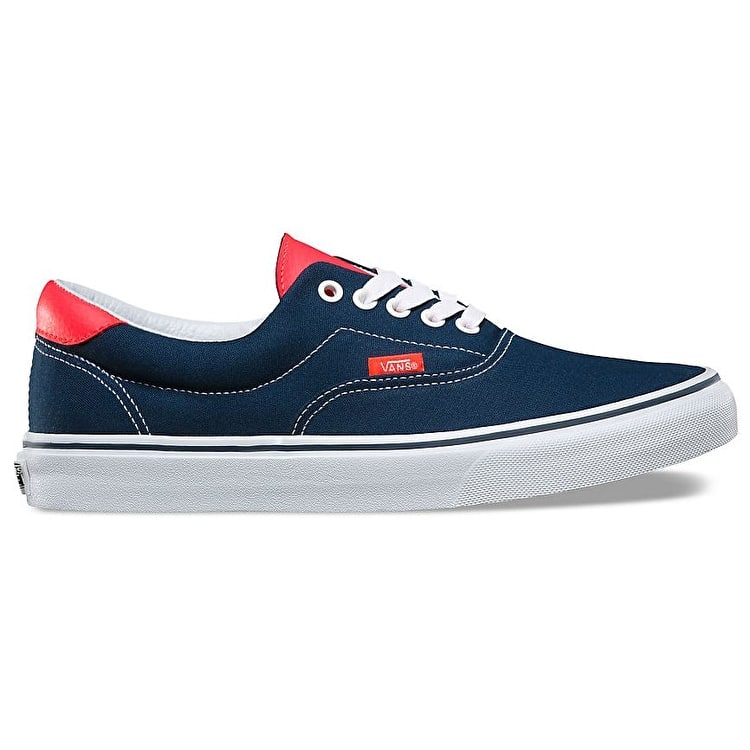 B-Stock Vans Era 59 Skate Shoes - (Neon Leather) Dress Blues/Neon Red UK 8 (Box Damage)