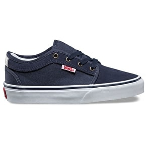Vans Chukka Low Kids Skate Shoes - Persian Night/White/Red