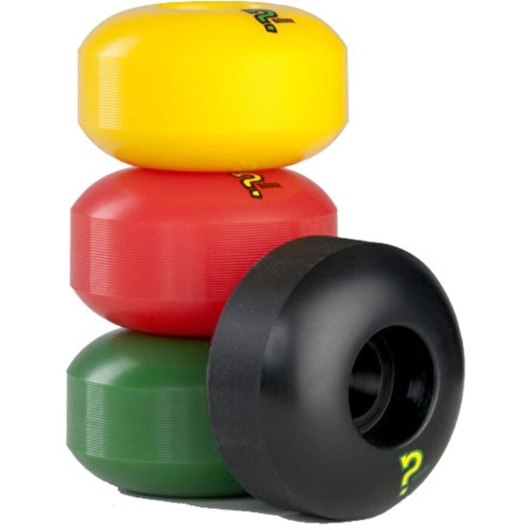 Enuff Refresher Rasta Mix Skateboard Wheels