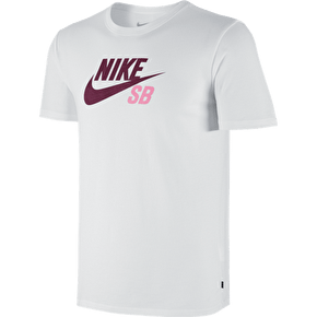 Nike SB Dri-FIT Icon Logo T-Shirt - White/Villain Red
