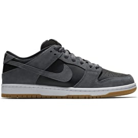 Nike SB Dunk Low Skate Shoes - Dark Grey/Black/White