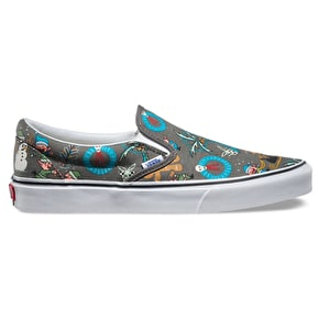 Vans Classic Slip-On Kids Shoes - (Van Doren) Holiday/Pewter