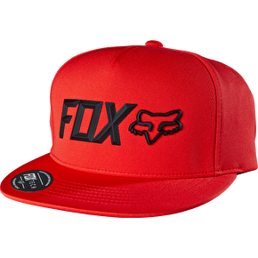 Fox Lampson Snapback Cap - Flame Red
