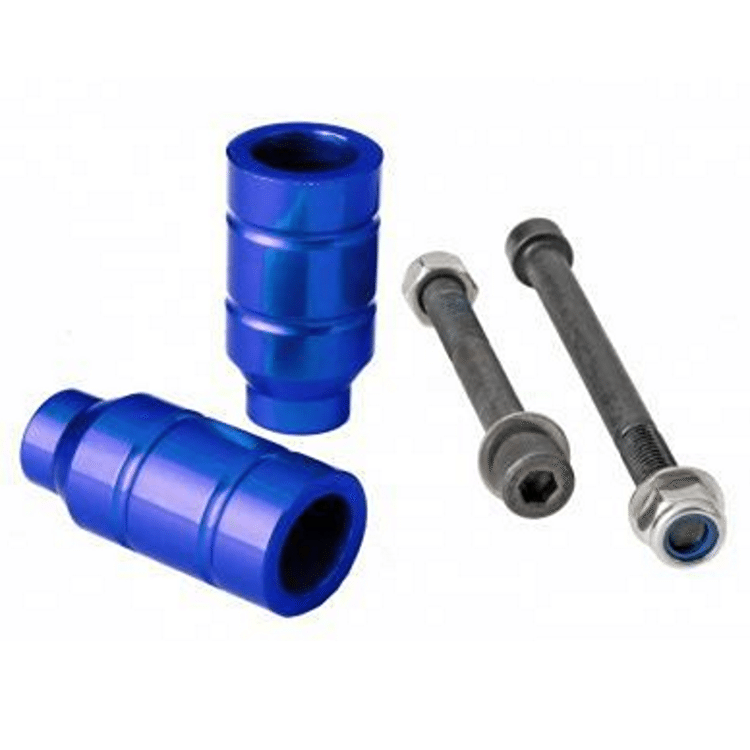 Grit Alloy Scooter Pegs - Blue