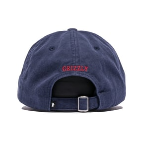 Grizzly OG Bear Logo Dad Hat - Navy/Red