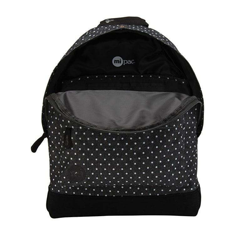 Mi-Pac Denim Spot Backpack - Black/White