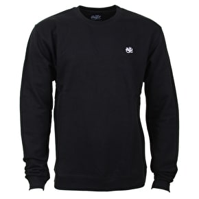 Royal Script Embroidered Crew - Black