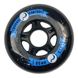 Ground Control 80mm 85a Inline Skate Wheels - Black (4pk)