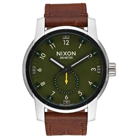 Nixon Patriot Leather Watch - Surplus/Brown