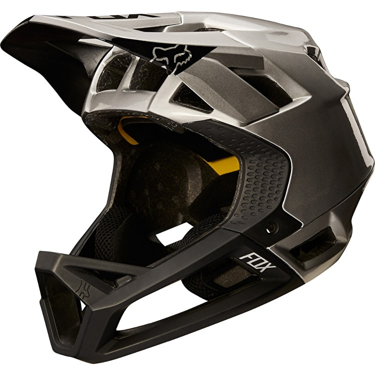 Fox Proframe Moth Full Face Helmet - Black/Silver