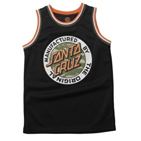 Santa Cruz Camo MF Dot Kids Basketball Vest -  Black