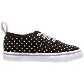 Vans Authentic Elastic Lace Skate Shoes - (Micro Heart) Black/Sea Fog
