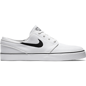 Nike SB Zoom Stefan Janoski Canvas Shoes - Summit White/Black