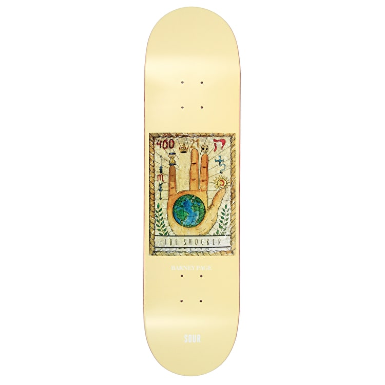 Sour Shocker - Barney Page Skateboard Deck 8.18""