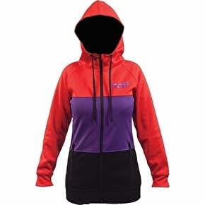 Neff Daily Stripe Shredder Womens Hoodie - Red