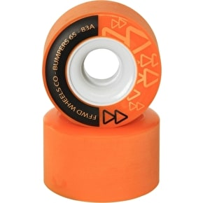 Forward Bumpers 65mm 83a Longboard Wheels - Orange (Pack of 4)