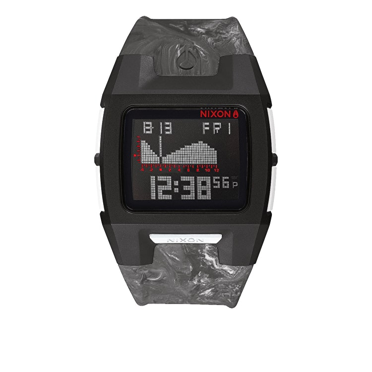 Nixon Lodown Silicone Watch - Marbled Black/Smoke