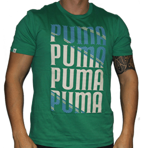 Puma Mens Graphic T-Shirt Green