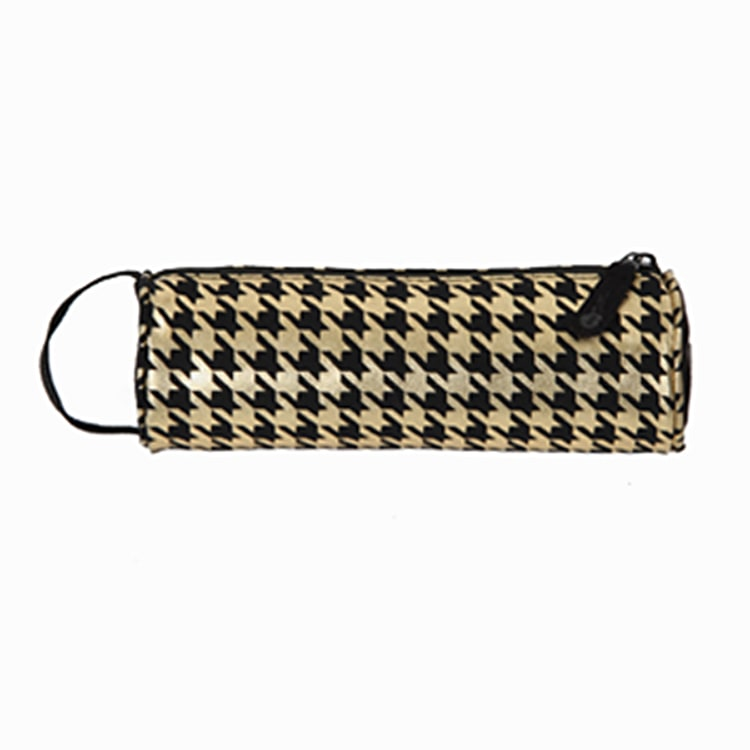 Mi-Pac Pencil Case - Houndstooth Black/Gold